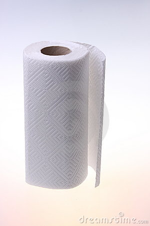 Free Roll Of Soft White Paper. Stock Photo - 8165440