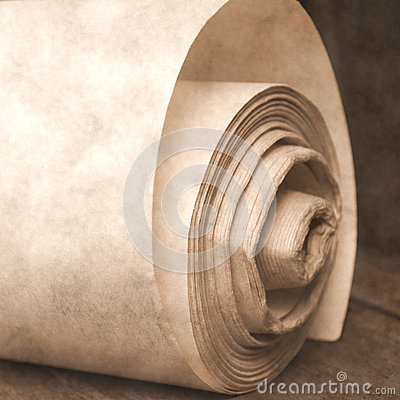 Roll old paper