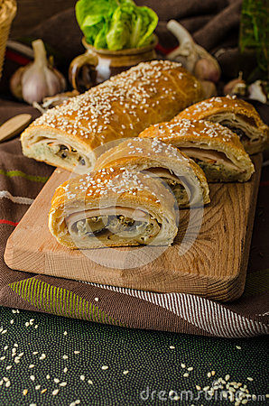 Free Roll Out Puff Pastry Stuffed Royalty Free Stock Photos - 50581398