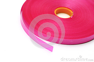 Roll ribbon color pink