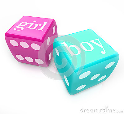 Free Roll The Dice - Deliver Boy Or Girl Baby In Pregnancy Stock Image - 31864061