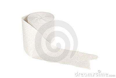 Roll of toilet paper isolated