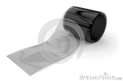 Roll of transparent film
