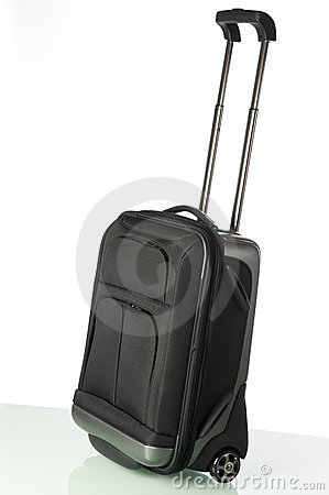 Roll type carry on back isolated