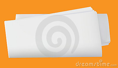 Rolled blank newspaper