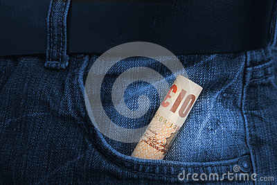 Rolled Pounds bill