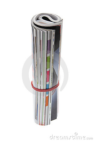 Free Rolled-Up Magazine Royalty Free Stock Photography - 5958597