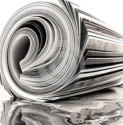Free Rolled Up Magazine Royalty Free Stock Image - 6272416