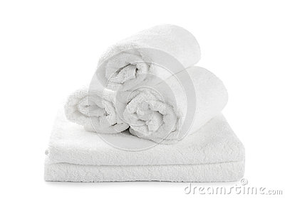 Rolled Up White Beach Towel Stock Photos - Image: 33122453