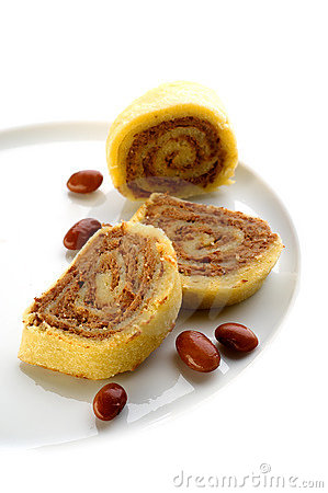 Rolled wheat cake