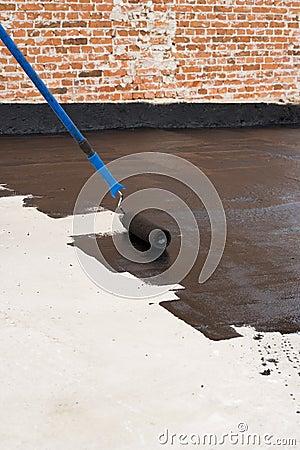 Free Roller Brush Waterproofing Stock Photo - 81742120