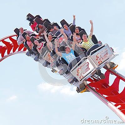 Roller coaster ride Editorial Stock Photo