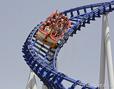 Roller coaster Editorial Stock Photo