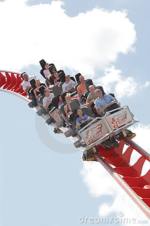 Roller coaster  Editorial Stock Image
