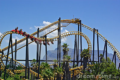 Roller-coaster in amusement park in south africa