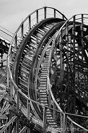 Free Roller Coaster B&W Stock Photo - 815990