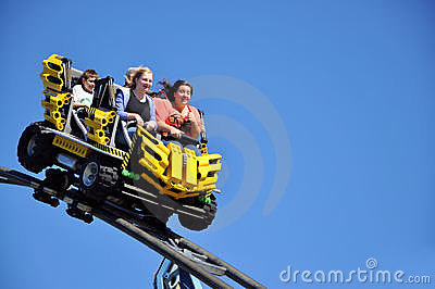 Roller Coaster closeup Editorial Photography