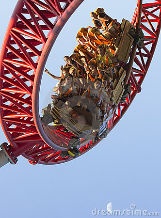 Roller coaster fun  Editorial Stock Image