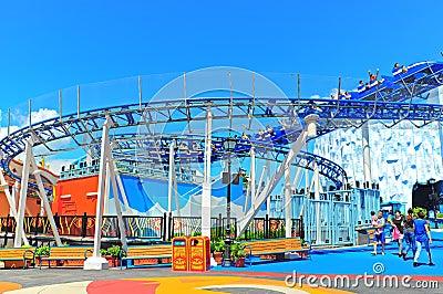 roller coaster at ocean park hong kong Editorial Photo