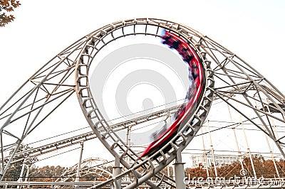 red roller coaster in orbit