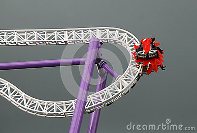 Roller-coaster at the pleasure ground Groena Lund #1 Editorial Photography