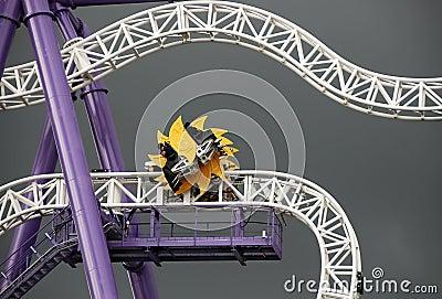 Roller-coaster at the pleasure ground Groena Lund #2 Editorial Photo