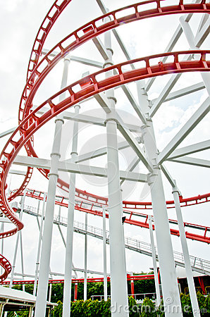 Roller coaster rail