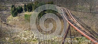 Roller coaster rails