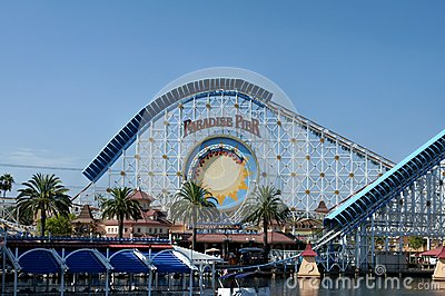 Roller Coaster Ride at California Adventure Editorial Stock Image