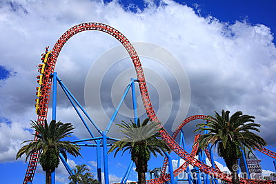 Roller coaster ride drop Editorial Stock Photo