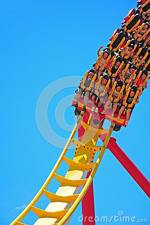roller coaster riders Editorial Photo