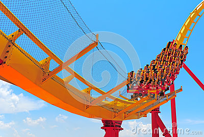roller coaster thrill ride Editorial Photography