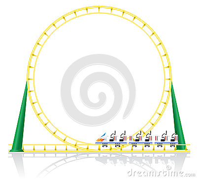 Roller coaster vector illustration