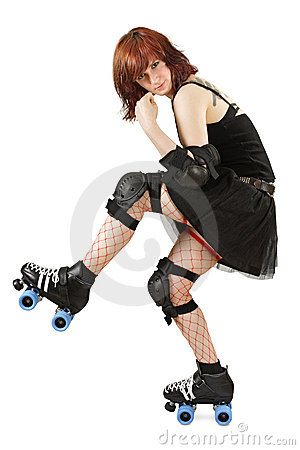 Free Roller Derby Girl Royalty Free Stock Photos - 15021918