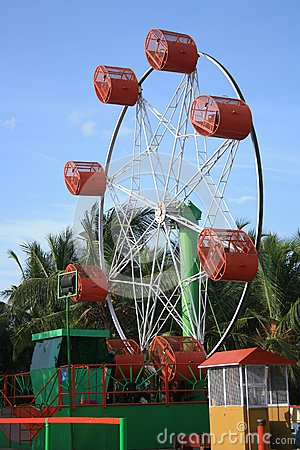 Roller Giant Wheel at an Indian amusement park