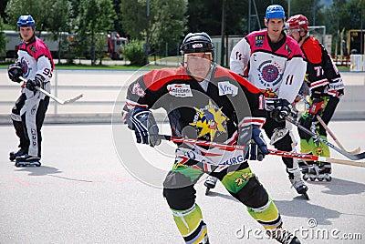 Roller hockey Editorial Stock Photo