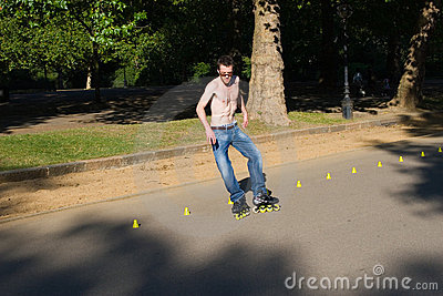 Roller on Hyde Park, London. Editorial Photography