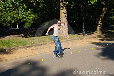 Roller on Hyde Park, London. Editorial Photo