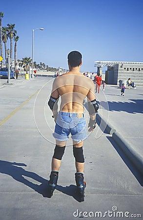 Roller Skater on Venice Beach, Editorial Image
