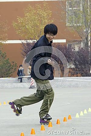 Roller skating game Editorial Photo