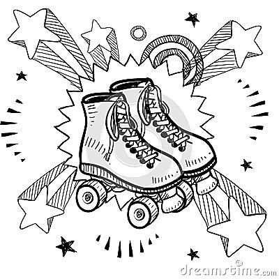 Free Roller Skating Sketch Royalty Free Stock Photo - 24689835