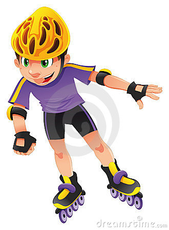 Free Rollerblade Boy Stock Images - 10555634