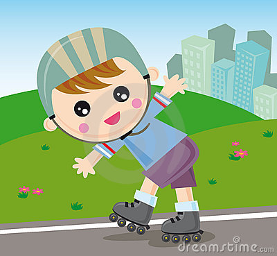 Free Rollerblade Boy Royalty Free Stock Photos - 6951668