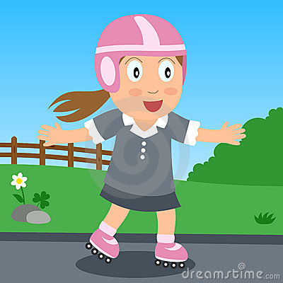 Rollerblade Girl in the Park