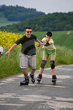 Rollerblades for two 2