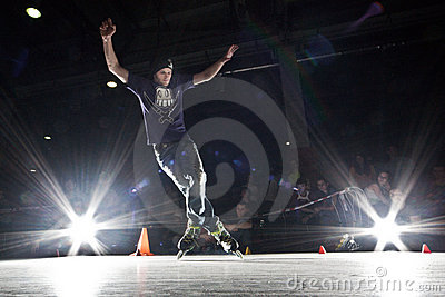 Rollerblading competition Editorial Photo