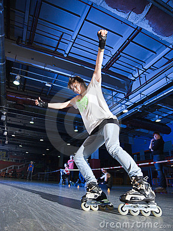 Rollerblading competition Editorial Stock Image