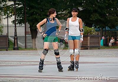 Rollerblading in Kaliningrad Editorial Photography