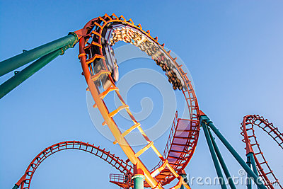Rollercoaster Editorial Stock Photo