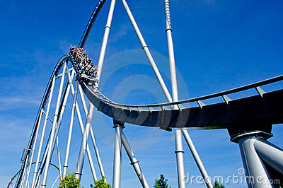 Rollercoaster in Europa Park Editorial Stock Photo